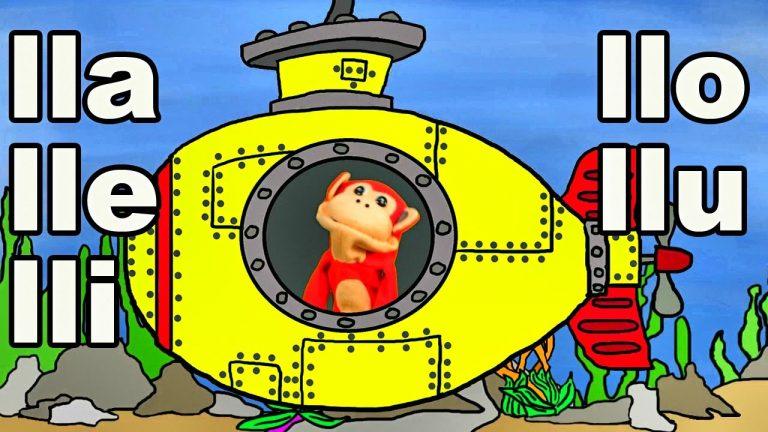 Sílabas lla lle lli llo llu - El Mono Sílabo - Videos Infantiles - Educación para Niños #