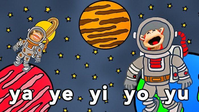 Canción ya ye yi yo yu - El Mono Sílabo - Videos Infantiles - Educación para Niños #