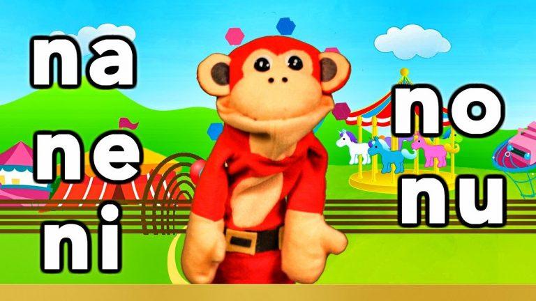 Sílabas na ne ni no nu - El Mono Sílabo - Videos Infantiles - Educación para Niños #