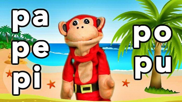Sílabas pa pe pi po pu - El Mono Sílabo - Videos Infantiles - Educación para Niños #