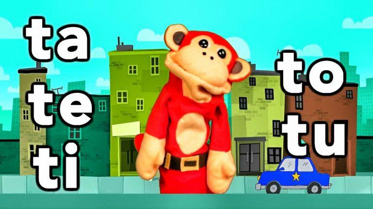 Sílabas ta te ti to tu - El Mono Sílabo - Videos Infantiles - Educación para Niños #