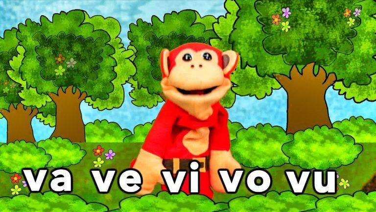 Sílabas va ve vi vo vu - El Mono Sílabo - Videos Infantiles - Educación para Niños #